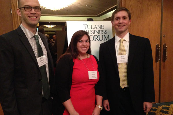 Representing at the Tulane Business Forum